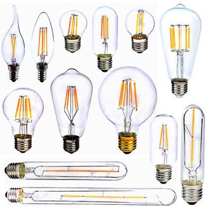 e27 e14 2 4 6 8w cob led vintage edison filament ampoule xmas lampe bulb 220v ebay. Black Bedroom Furniture Sets. Home Design Ideas