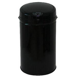 ECHTWERK-Edelstahl-Abfalleimer-mit-IR-Sensor-30L-INOX-BLACK-Muelleimer