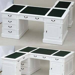 eckschreibtisch antik weiss partnerdesk sekret r winkelschreibtisch pc b rotisch ebay. Black Bedroom Furniture Sets. Home Design Ideas