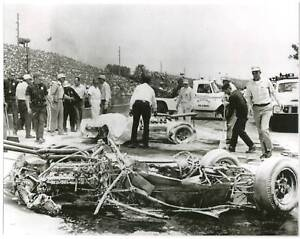 Eddie Sachs Crash Photos http://www.ebay.com/itm/EDDIE-SACHS-DAVE-MacDONALD-1964-INDY-500-8-X-10-PHOTO-/320588251714