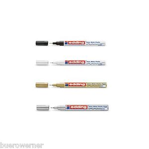 EDDING-780-Lackmarker-Lackstift-Marker-0-8-mm-gold-silber-schwarz-weiss