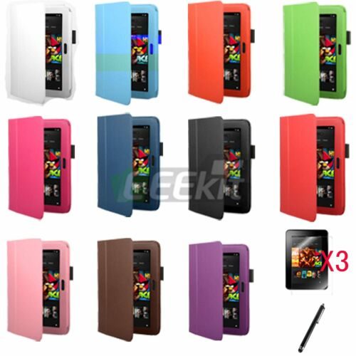 EEEKit for Amazon Kindle Fire HD 7,Multi-Color Leather Case+Screen Protector+Pen in Computers/Tablets & Networking, Other | eBay