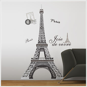"EIFFEL TOWER BiG 56"" wall Stickers Mural PARIS Room Decor Vinyl Decals in Home & Garden, Home Decor, Decals, Stickers & Vinyl Art 