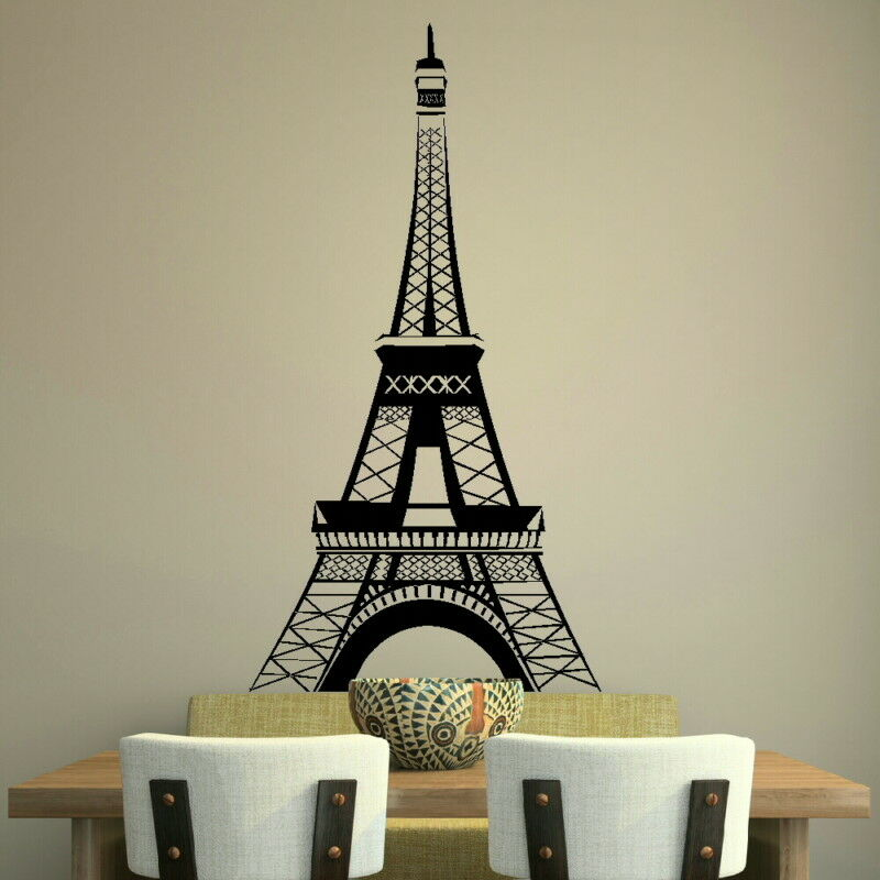 eiffel tower paris french wall art sticker decal huge removable vinyl