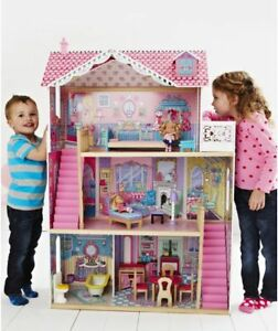 Elc Annabelle Wooden Dolls House Mansion Furniture
