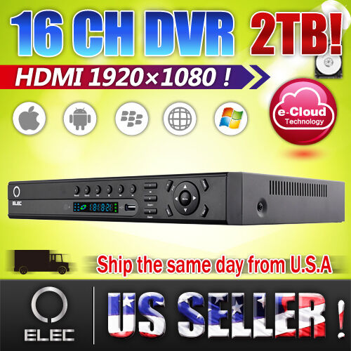 ELEC® HDMI 1080P16 CH Channel H.264 D1 Realtime CCTV Security DVR system w/2TB in Consumer Electronics, Home Surveillance, Digital Video Recorders, Cards | eBay