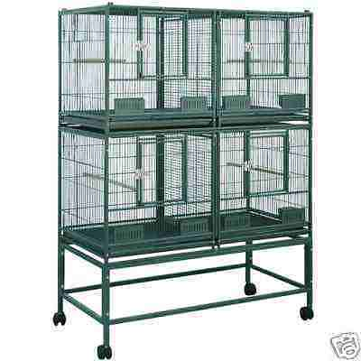 ELFDD 4020 PARROT STACK BREEDER CAGE 40x20x53 bird cages toy toys conure caique in Pet Supplies, Bird Supplies, Cages | eBay