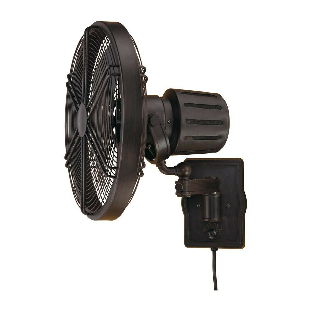 Wall Mount Outdoor Rated Fans : Ellington faraday aged bronze outdoor rated wall mount