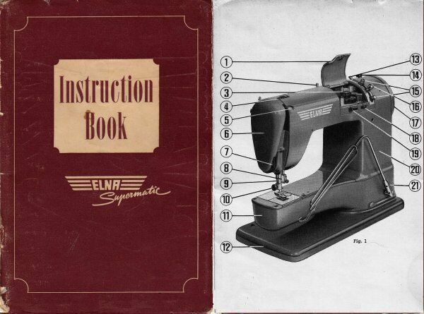 ELNA SUPERMATIC SEWING MACHINE INSTRUCTION BOOK MANUAL on PopScreen