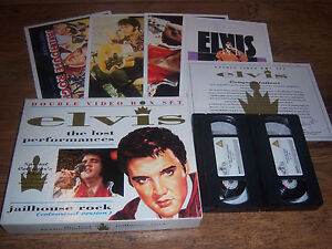 ELVIS-PRESLEY-BOX-SET-THE-LOST-PERFORMANCES-VHS-POSTERS-RARE-COLLECTION-LOT