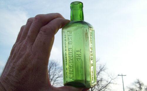 EMERALD GREEN PISO CO.CANNABIS MARIJUANA QUACK CURE FOR TUBERCULOSIS WARREN,PA in Collectibles, Bottles & Insulators, Bottles | eBay