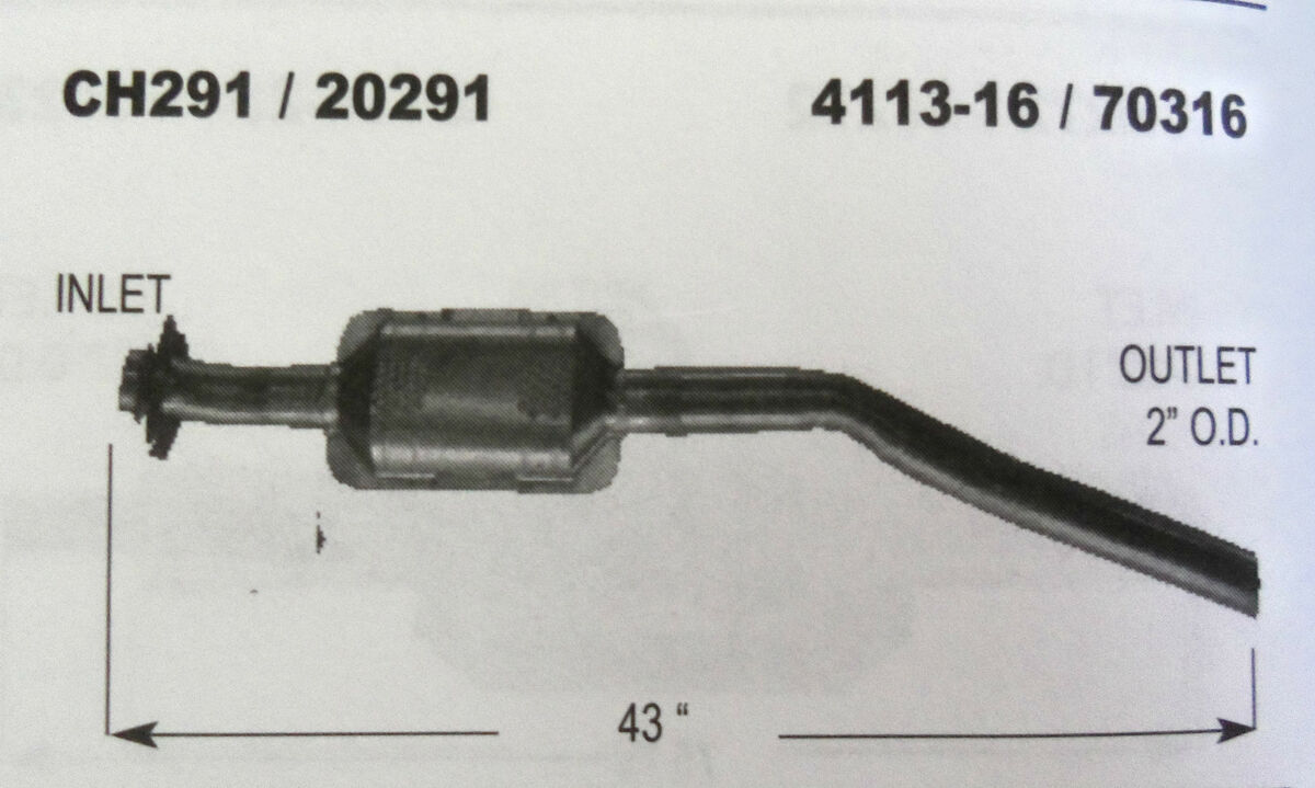 EMI 20291 Catalytic Converter Plymouth Voyager 95 94 93 92