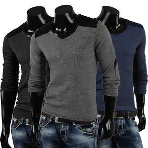 EMIMAY-Herren-Pullover-85286-Longsleeve-Pulli-Sweatshirt-Strickjacke-Hoodie-Neu