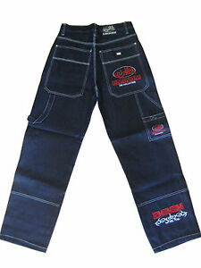 Eminem Blue Baggy Hip Hop Loose Jeans Pants Cargo | eBay