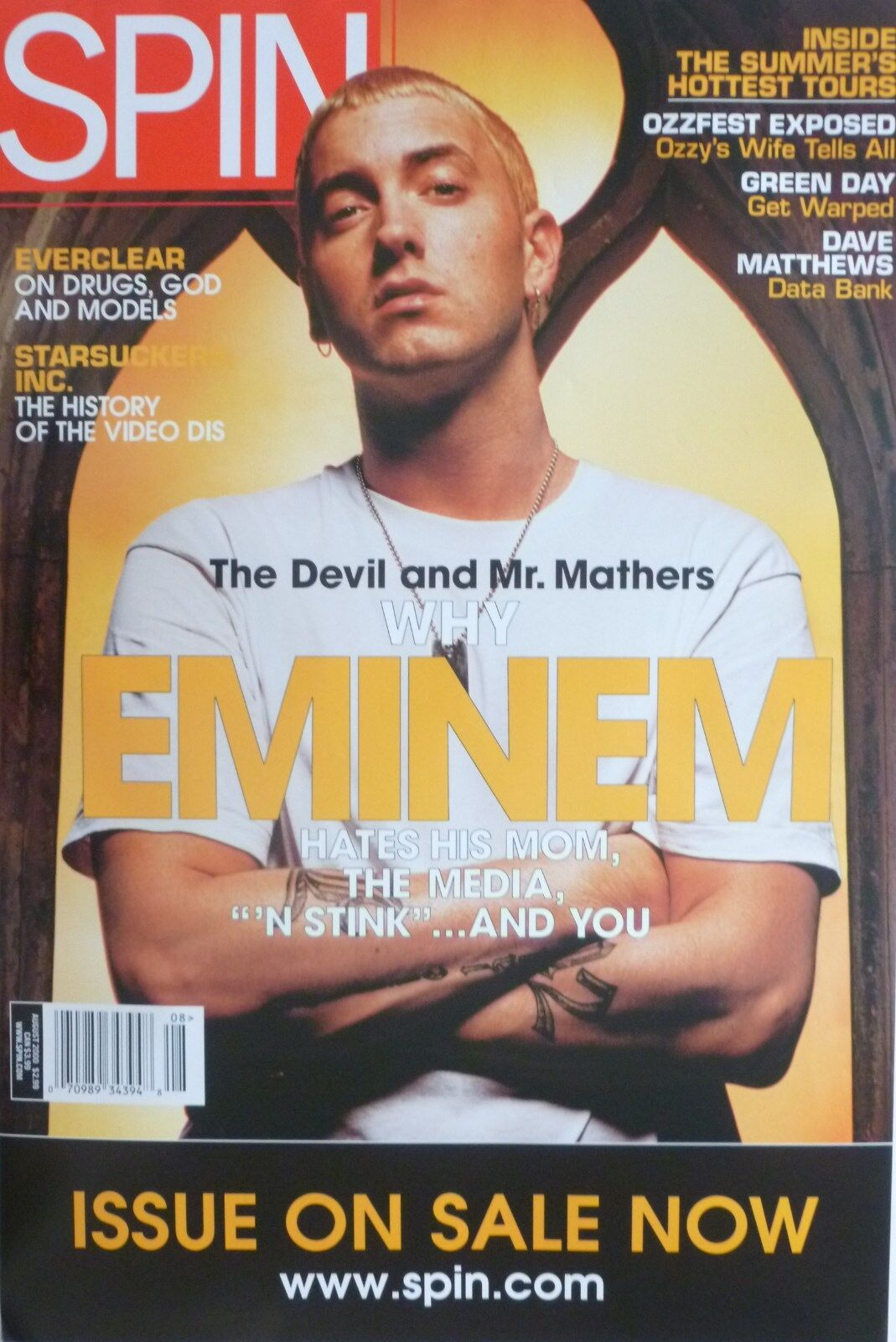 Eminem quot spin magazine quot poster from 2000 the devil and mr mathers