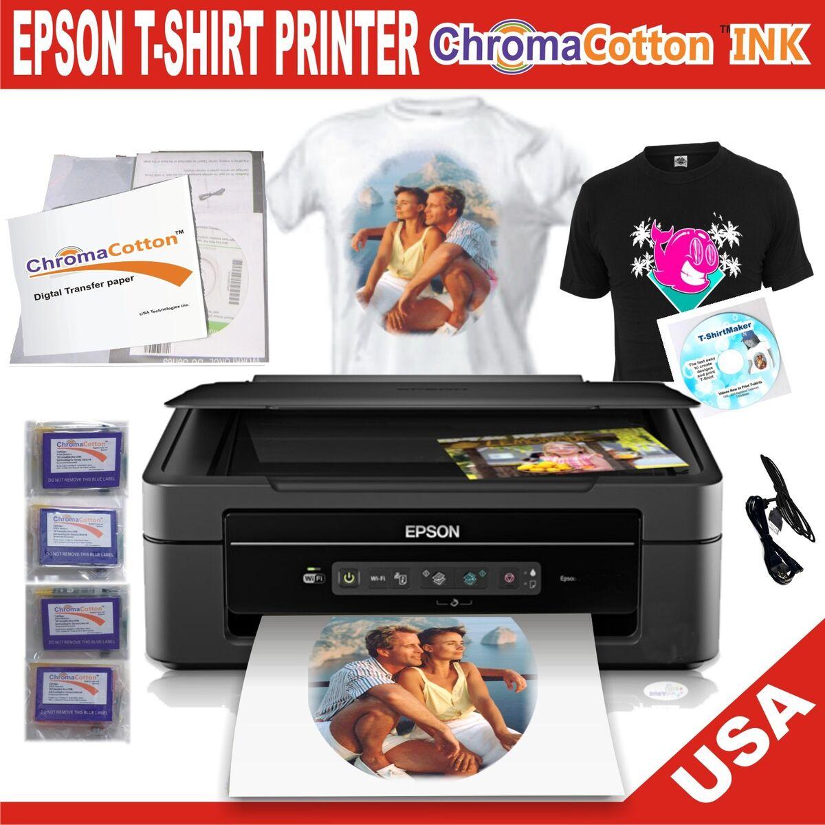 Epson printer t shirt maker with chroma cotton ink for Epson t shirt printer