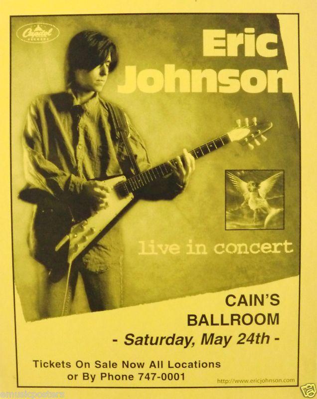 eric johnson 1997 tulsa oklahoma concert tour poster texas rock guitar god ebay. Black Bedroom Furniture Sets. Home Design Ideas