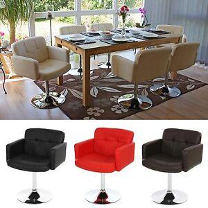 esszimmerstuhl drehbar armlehnen st hle stuhl esszimmer schwarz rot creme braun ebay. Black Bedroom Furniture Sets. Home Design Ideas