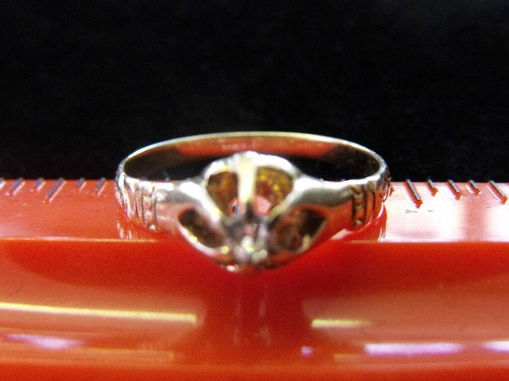 VICTORIAN 14K YELLOW GOLD DIAMOND RING MINE CUT SIZE 6.5 NICE