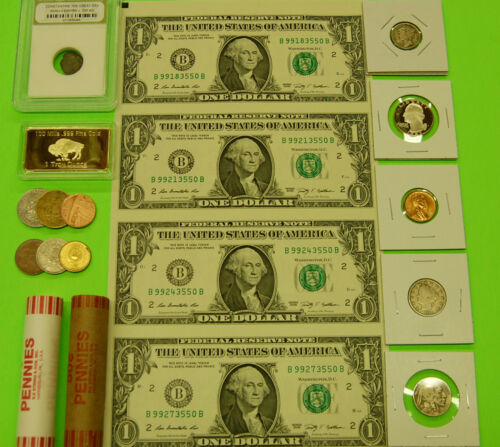 ESTATE SALE COIN COLLECTION US SILVER~GOLD ITEM~UNCUT CURRENCY~PROOF~BU/UNC! in Coins & Paper Money, Coins: US, Collections, Lots | eBay