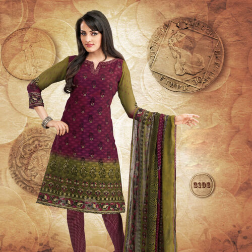 ETHNIC INDIA-PAKISTANI BOLLYWOOD DESIGNER PRINTED SALWAR KAMEEZ SUIT MATERIAL in Clothing, Shoes & Accessories, Cultural & Ethnic Clothing, India & Pakistan | eBay