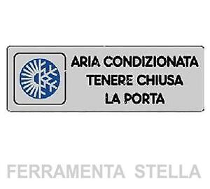 Etichetta cartello adesiva aria condizionata tenere chiusa - La porta chiusa sartre ...