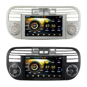eto fiat 500 autoradio gps navigation stereo car dvd player sat nav headunit swc ebay. Black Bedroom Furniture Sets. Home Design Ideas