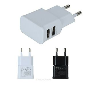 EU-plug-2-Port-USB-Power-Adapter-Ladegeraet-Charger-Fuer-Galaxy-S-Tab-iPad-iPhone
