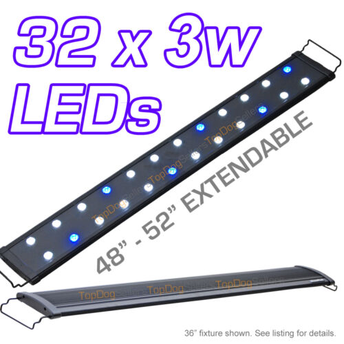 "EVO 48"" LED Aquarium Light Coral Reef Saltwater 32x 3W 3 Watts Lunar 120 cm in Pet Supplies, Aquarium & Fish, Lighting 