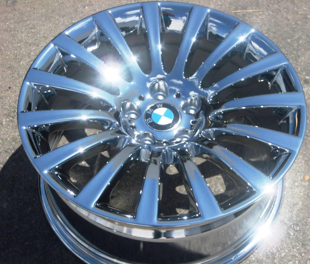 "Exchange 4 19"" Factory BMW 745i 745LI 750i 750LI 760i Chrome Wheels Rims"