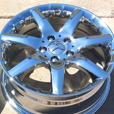 "Exchange Set of 4 New Chrome 17"" Mercedes Benz C230 C320 Wheels Rims 65261"
