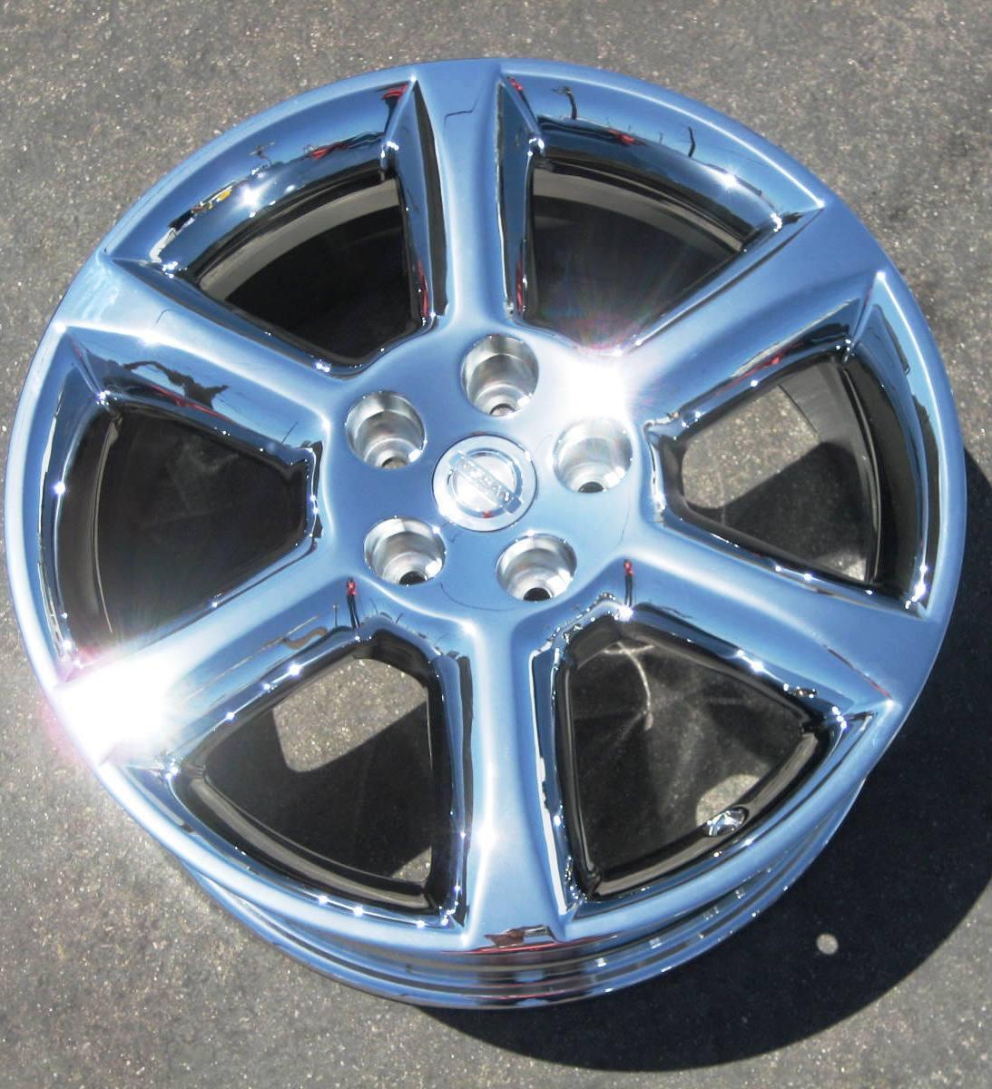 "Exchange Your Stock 4 18"" Factory Nissan Maxima Chrome Wheels Rims 2004 06 62424"