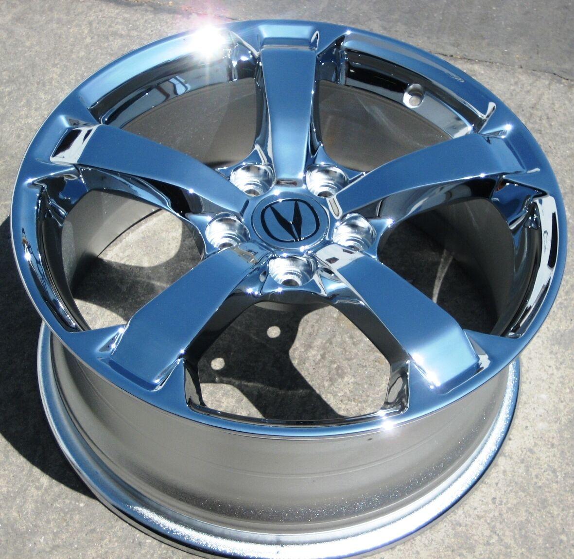 Stock 4 New 18 Factory Acura TL Chrome Wheels Rims 2009 2012