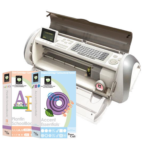 "EXPRESSION MACHINE Cricut 24"" Electronic Digital Cut 2 Cartridges Plantin Accent in Crafts, Scrapbooking & Paper Crafts, Scrapbooking Tools 