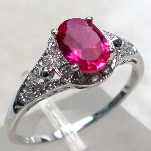 EXQUISITE 1.5 CT RUBY 925 STERLING SILVER RING SIZE 8 in Jewelry & Watches, Fine Jewelry, Fine Rings | eBay