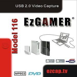 EZCAP-TV-116-EzGAMER-USB-2-0-Game-Capture-Device-xp-vista-Windows-7-32-64-bit