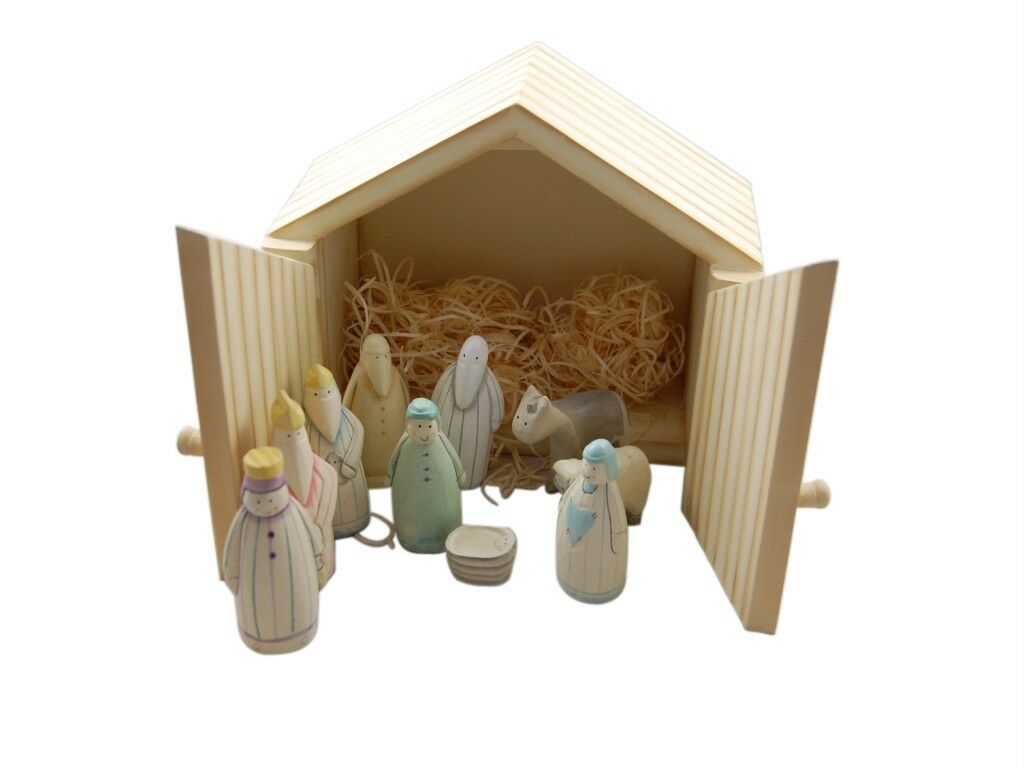 East of india wooden christmas nativity set gift idea