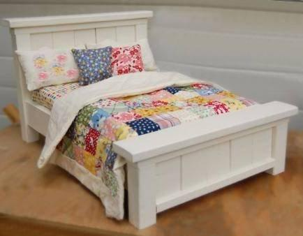 "Easy Build Farmhouse Bed for 18"" Dolls (esp. American Girl & Maplelea) DIY Plan in Everything Else, Information Products, Other 