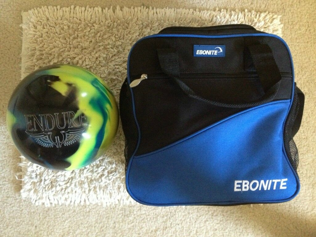Ebonite Endure 15 lb Bowling Ball Ebonite Bowling Bag 10 Total Games ... ece9753eaf323