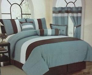 Echo 7 Piece Comforter Mint Green Light Blue Burgandy ...