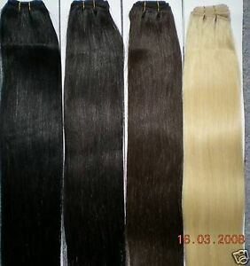 echthaar tresse haarverl ngerung hair weft extension glatt 80 cm ebay. Black Bedroom Furniture Sets. Home Design Ideas