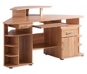 eck schreibtisch kernbuche ecktisch struktur buche. Black Bedroom Furniture Sets. Home Design Ideas