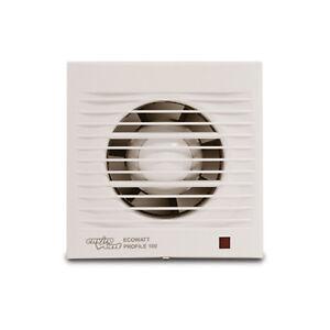 Ecowatt Profile 100 Fan Kitchen Bathroom Ventilation Air Conditioning Fan Ebay