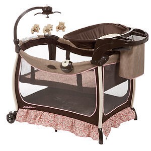 Pack And Play With Bassinet http://www.ebay.com/itm/Eddie-Bauer-pack-n-play-Play-Yard-bassinet-changer-Michelle-pink-and-brown-/251254818553