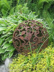 Edelrost barockkugel 50 cm kugel rost eisen metall deko for Kugel rost garten