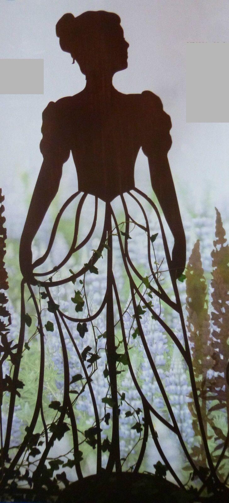 edelrost figur frau kletterhilfe kleid rankgitter skulptur dekoration garten ebay. Black Bedroom Furniture Sets. Home Design Ideas