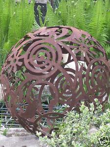 Edelrost gartenkugel 50 cm kugel rost eisen metall deko for Gartendeko schmiedeeisen