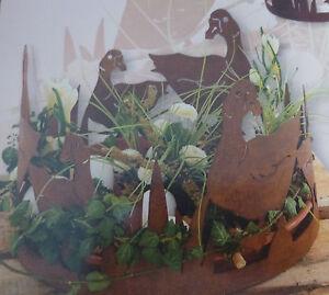 Edelrost ring g nse garten dekoration gans metall rost for Rost deko garten deutschland