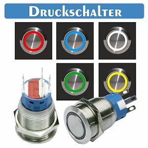 Edelstahl-Druckschalter-Schalter-Lichtschalter-beleuchteter-Schalter-LED-020