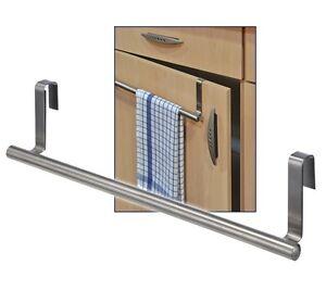 edelstahl k chen handtuch halter handtuchhalter zum einh ngen an schrankt ren ebay. Black Bedroom Furniture Sets. Home Design Ideas